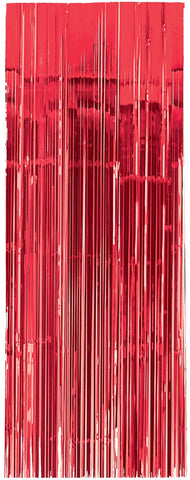 Red Metallic Door Curtain - METALLIC DECORATIONS - Party Supplies - America Likes To Party