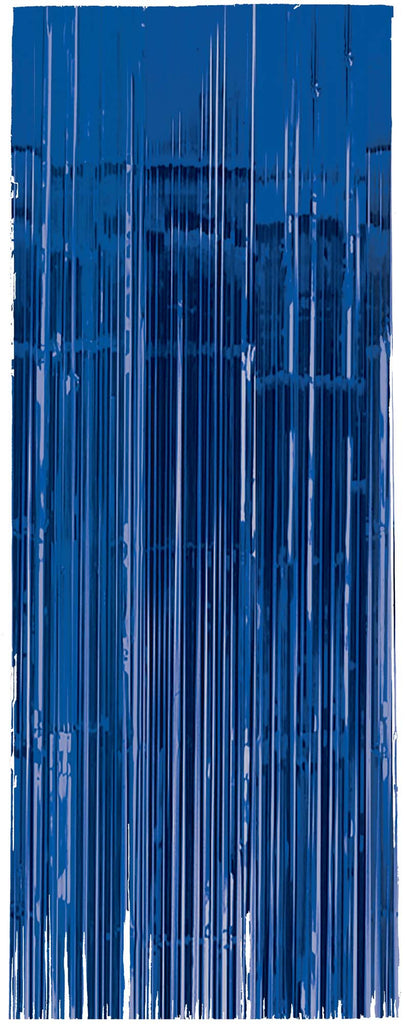 Royal Blue Metallic Door Curtain - METALLIC DECORATIONS - Party Supplies - America Likes To Party