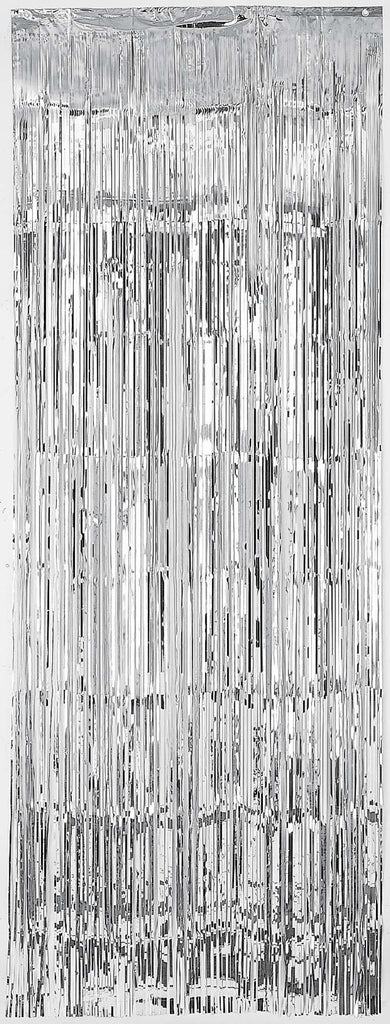 Silver Metallic Door Curtain - METALLIC DECORATIONS - Party Supplies - America Likes To Party