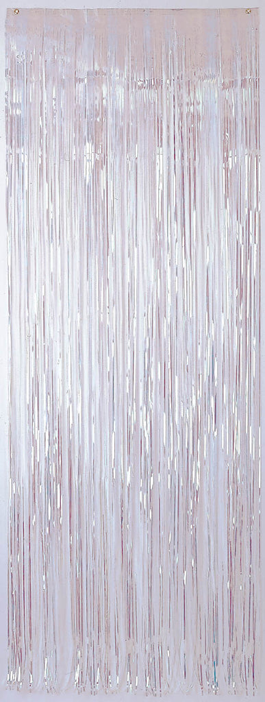 White Metallic Door Curtain - METALLIC DECORATIONS - Party Supplies - America Likes To Party