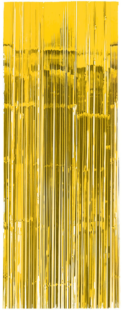 Yellow Metallic Door Curtain - METALLIC DECORATIONS - Party Supplies - America Likes To Party