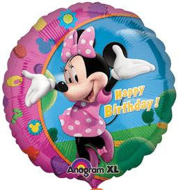 Minnie Mouse Happy Birthday Balloon - KIDS BDAY MYLARS - Party Supplies - America Likes To Party