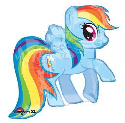 My Little Pony Rainbow Dash Super Shape Balloon - KIDS BDAY MYLARS - Party Supplies - America Likes To Party