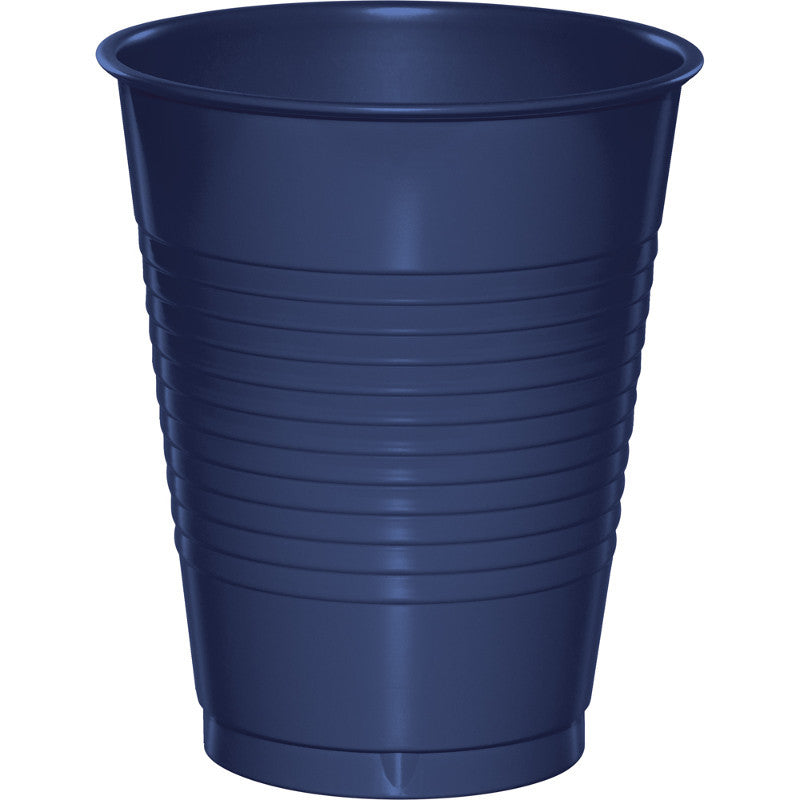 Navy 16oz Plastic Cups 20ct - BLUE NAVY - Party Supplies - America Likes To Party