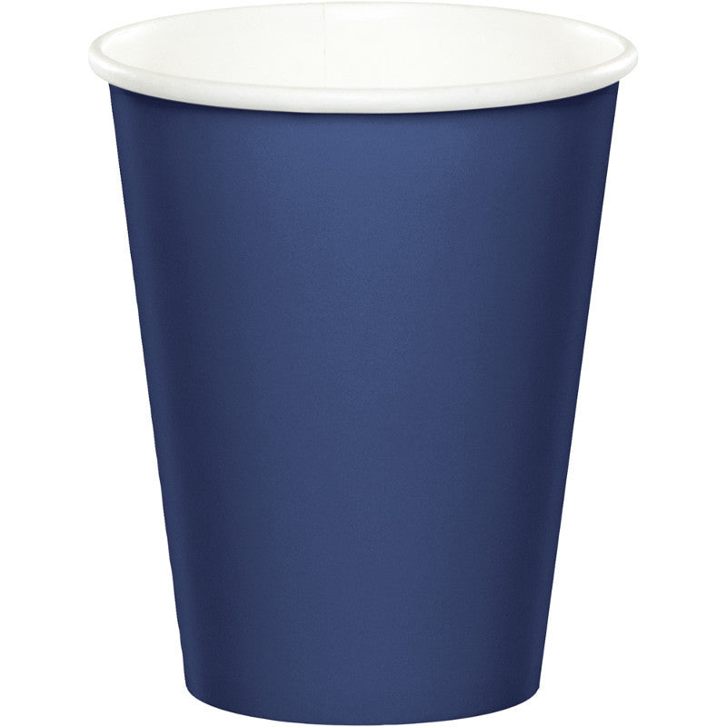Navy 9oz Paper Cups 24ct - BLUE NAVY - Party Supplies - America Likes To Party
