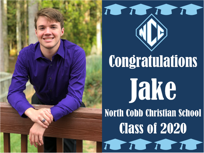 "North Cobb Christian School Graduation Yard Sign With Photo 18"" x 24""  GLS0"