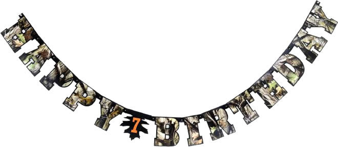 NEXT Camo Birthday Banner - MOSSY OAK - Party Supplies - America Likes To Party