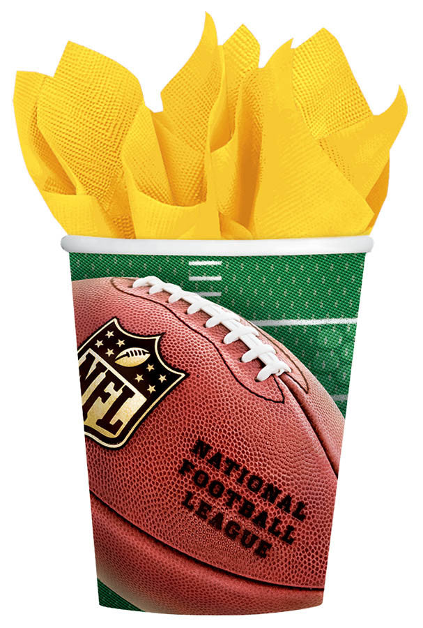 NFL 12oz Paper Cups 8ct - FOOTBALL - Party Supplies - America Likes To Party