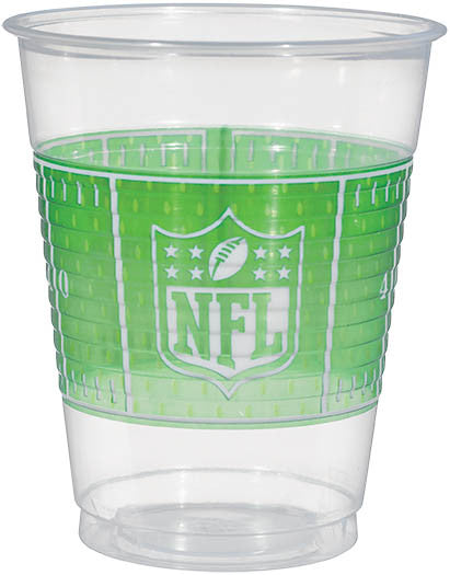 NFL 16oz Plastic Cups 25ct - FOOTBALL - Party Supplies - America Likes To Party