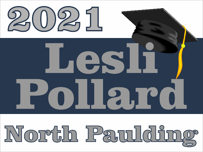 "North Paulding High School Graduation Yard Sign 18"" x 24""  GLS04"