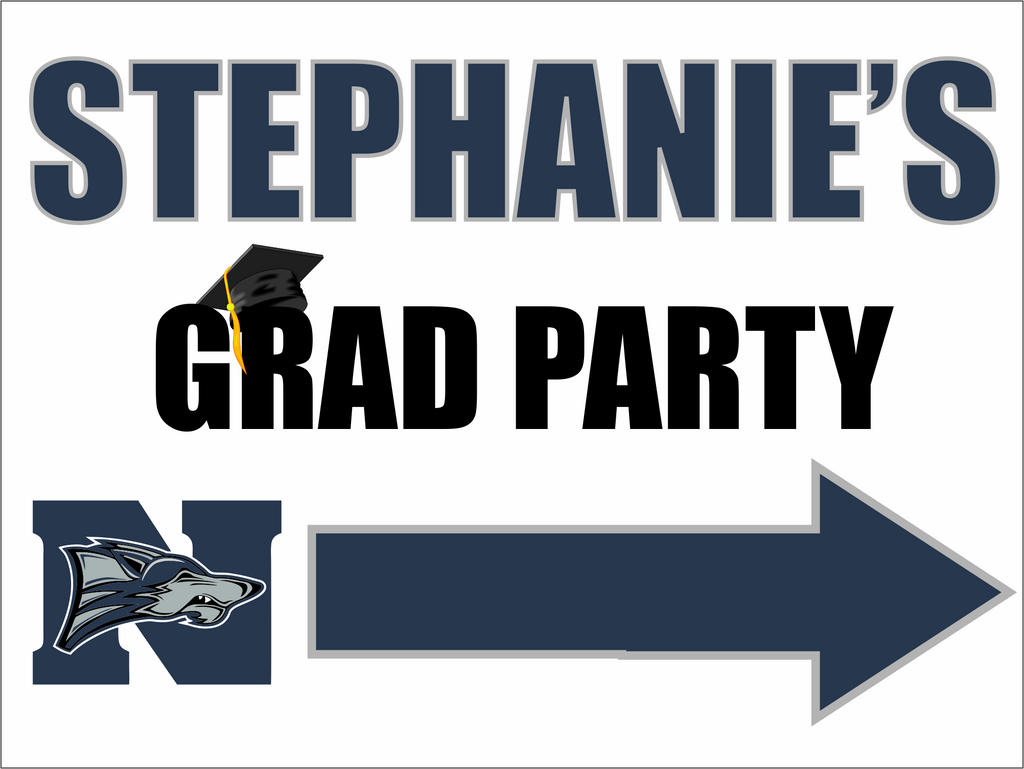 "North Paulding High School Graduation Yard Sign 18"" x 24""  GLS09"