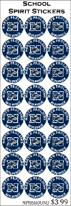 North Paulding High School 24ct Round Stickers