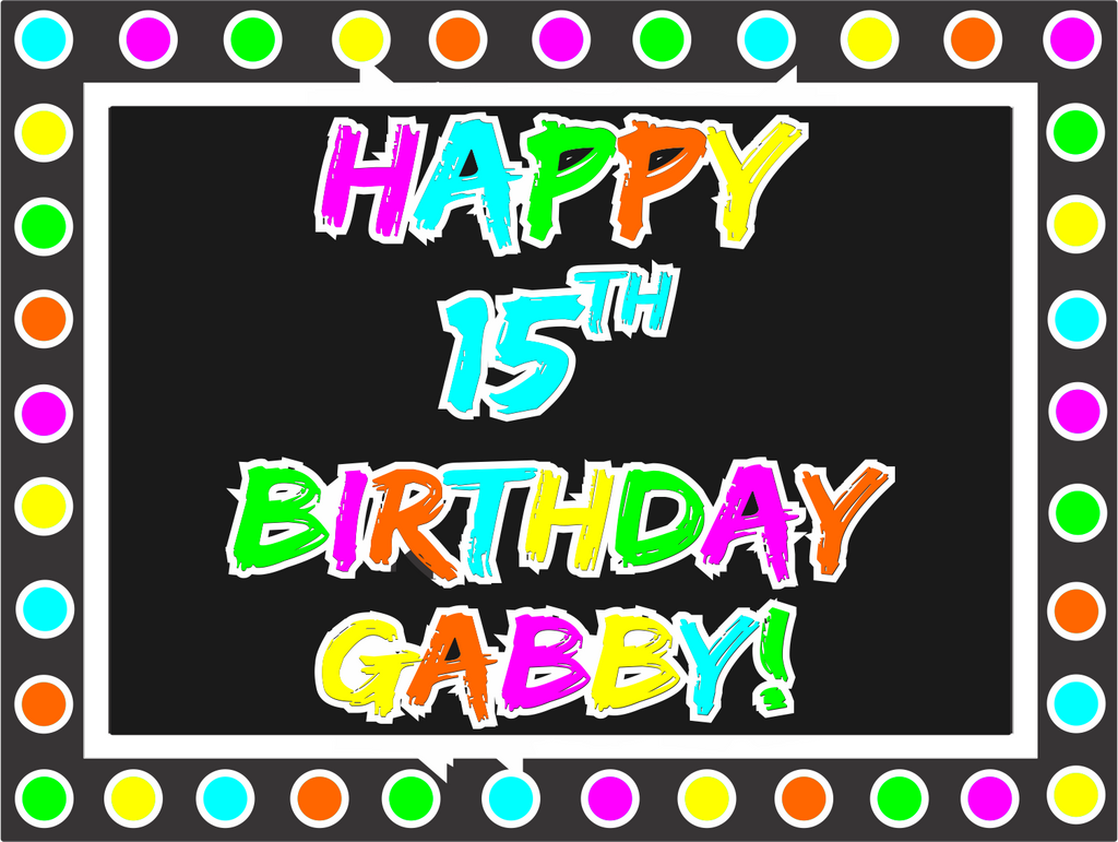 "Neon Birthday Custom 18"" X 24"" Lawn Sign"