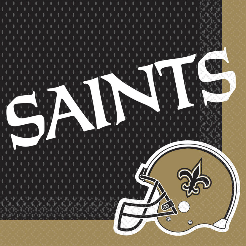 New Orleans Saints Lunch Napkins 16ct - NFL - Party Supplies - America Likes To Party