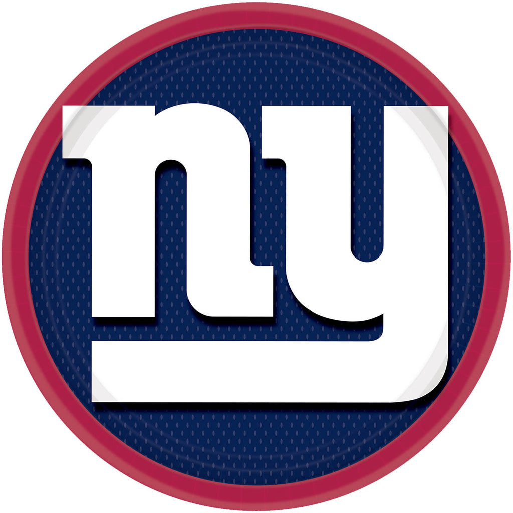 New York Giants Lunch Plates 8ct - NFL - Party Supplies - America Likes To Party