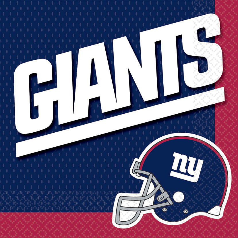 New York Giants Lunch Napkins 16ct - NFL - Party Supplies - America Likes To Party