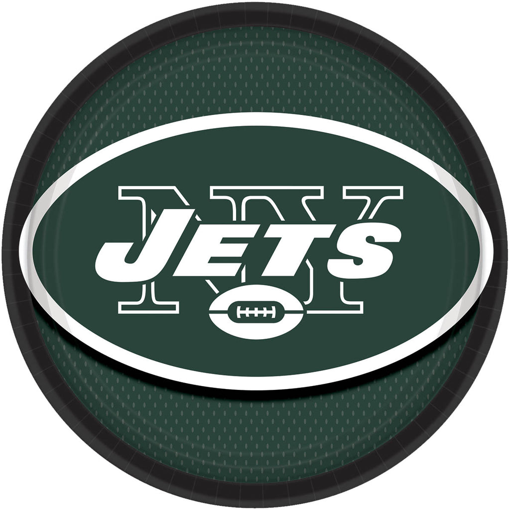New York Jets Lunch Plates 8ct - NFL - Party Supplies - America Likes To Party