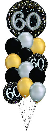 Sparkling 60 Balloon Floor Bouquet OB12