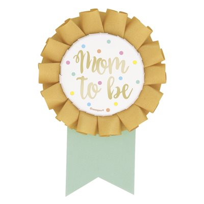 Mom To Be Shower Badge