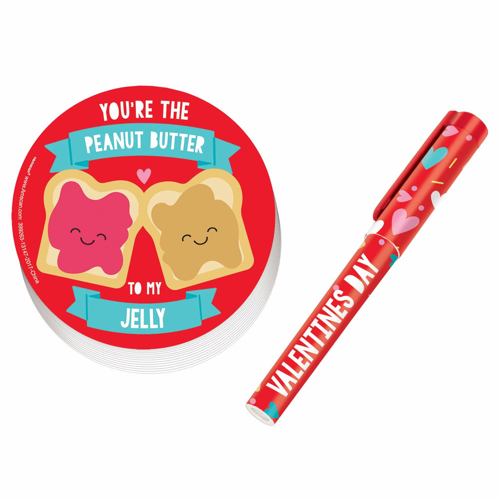 Peanut Butter & Jelly Notepad and Pen