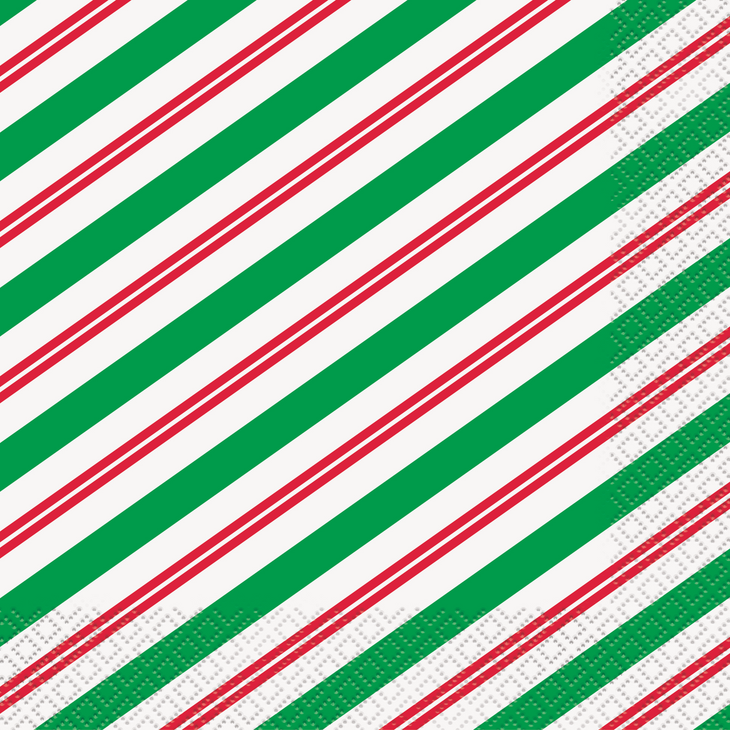 Peppermint Christmas Lunch Napkins