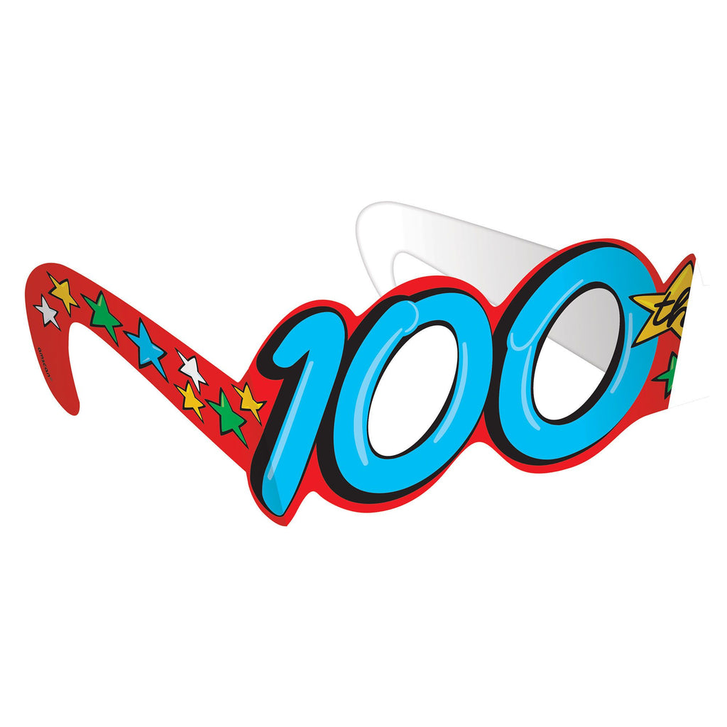 100th Day of School Paper Glasses