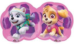 Paw Patrol Pink Super Shape Balloon - KIDS BDAY MYLARS - Party Supplies - America Likes To Party