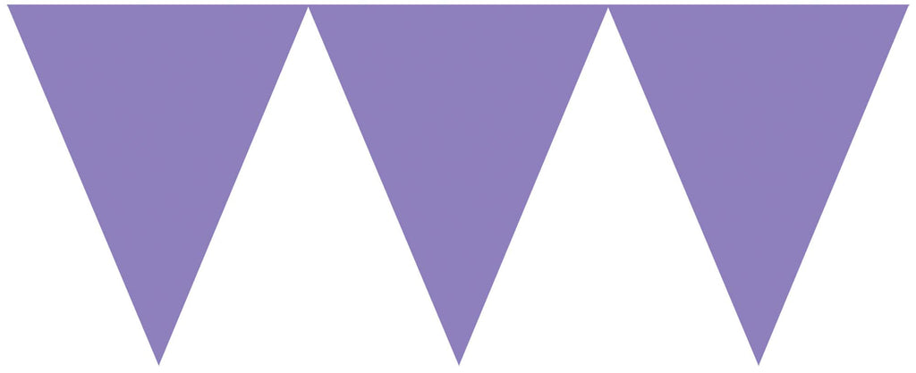 Purple Pennant Banner - PAPER TISSUE DECOR - Party Supplies - America Likes To Party