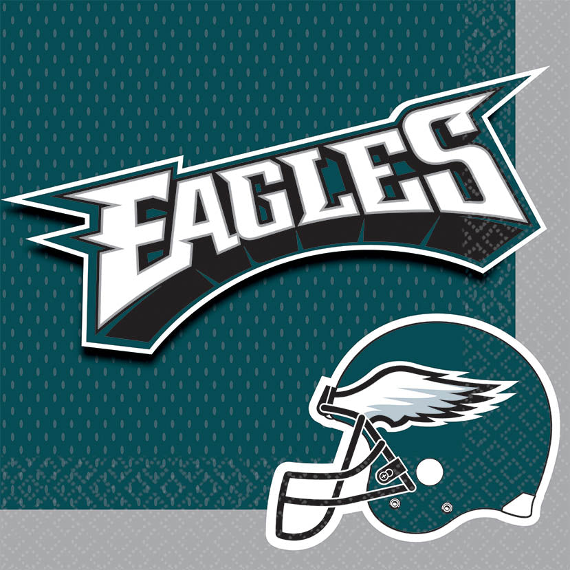 Philadelphia Eagles Lunch Napkins 16ct - NFL - Party Supplies - America Likes To Party