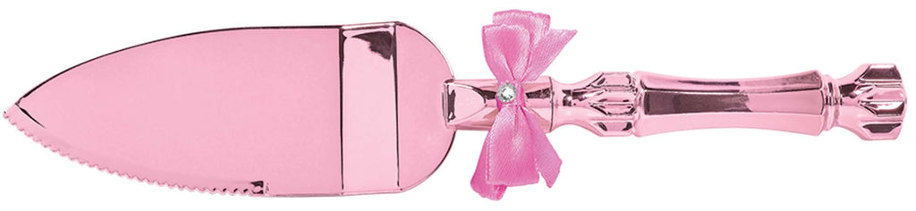 Pink Cake Server w/ Bow - ACCESSORIES BABY - Party Supplies - America Likes To Party