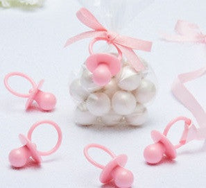 Pink Pacifier Favors 8ct - FAVORS BABY - Party Supplies - America Likes To Party