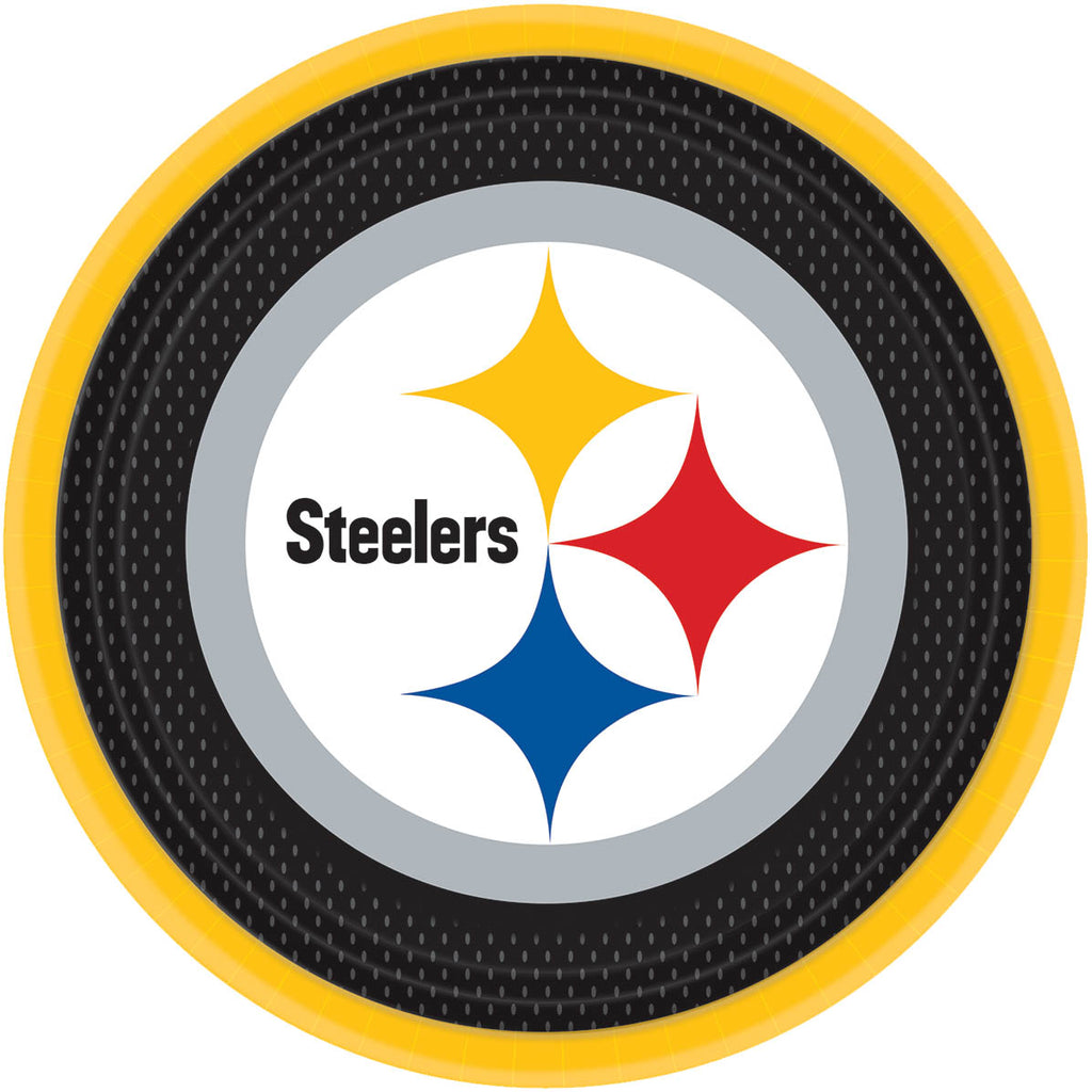 Pittsburgh Steelers Lunch Plates 8ct - NFL - Party Supplies - America Likes To Party