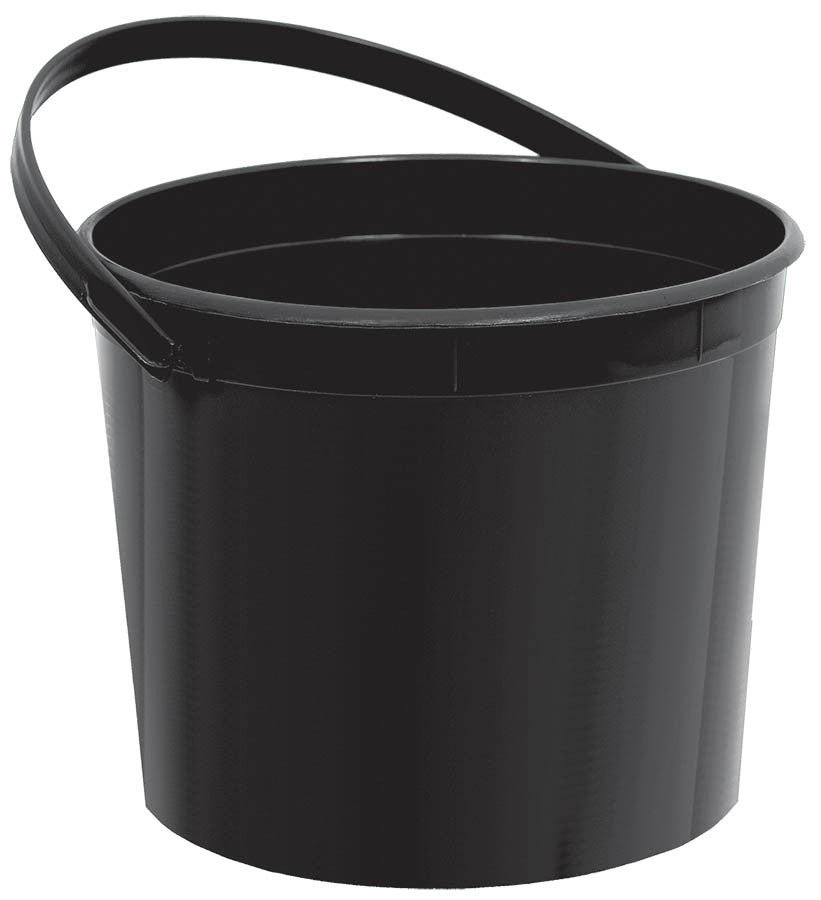Black Plastic Bucket - FAVOR BAGS/CONTAINERS - Party Supplies - America Likes To Party
