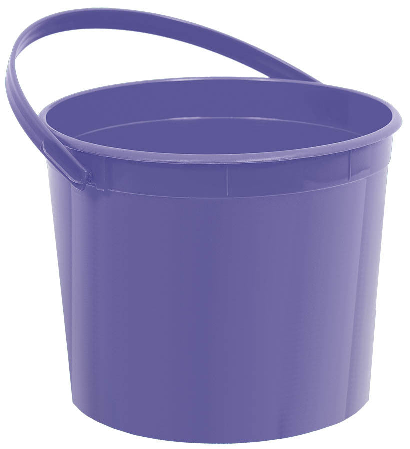 Purple Plastic Bucket - FAVOR BAGS/CONTAINERS - Party Supplies - America Likes To Party