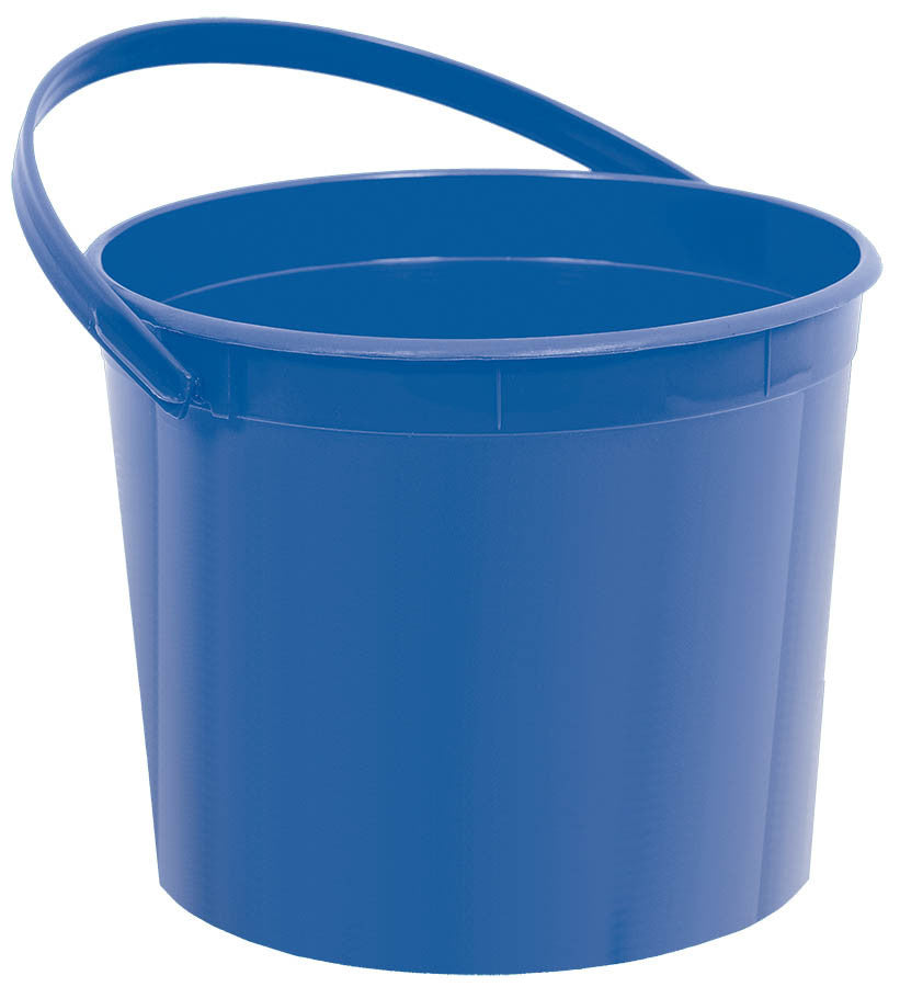 Royal Blue Plastic Bucket - FAVOR BAGS/CONTAINERS - Party Supplies - America Likes To Party