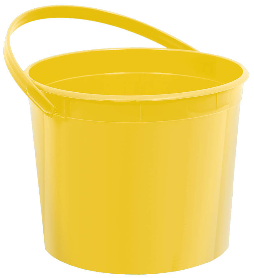 Yellow Plastic Bucket - FAVOR BAGS/CONTAINERS - Party Supplies - America Likes To Party