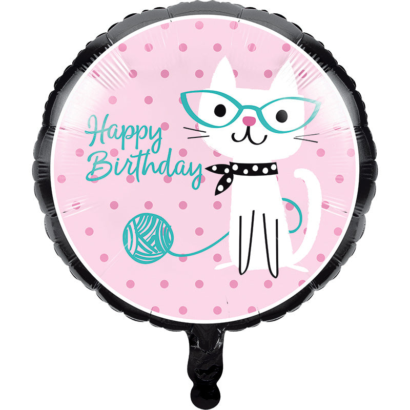 Purrfect Party Balloon - PURFECT PARTY - Party Supplies - America Likes To Party