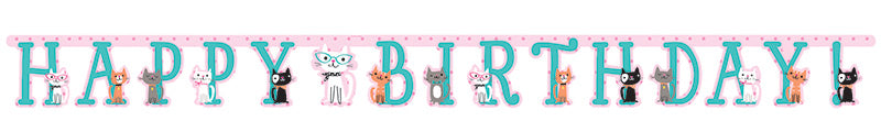Purrfect Party Birthday Banner - PURFECT PARTY - Party Supplies - America Likes To Party