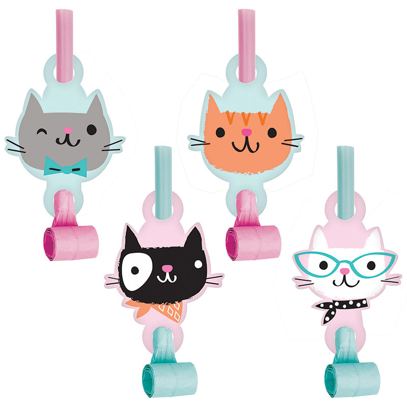 Purrfect Party Blowouts 8ct - PURFECT PARTY - Party Supplies - America Likes To Party