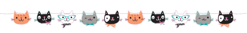 Purrfect Party Cat Banner - PURFECT PARTY - Party Supplies - America Likes To Party