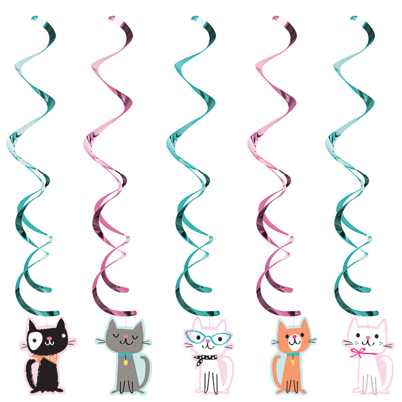 Purrfect Party Danglers 5ct - PURFECT PARTY - Party Supplies - America Likes To Party