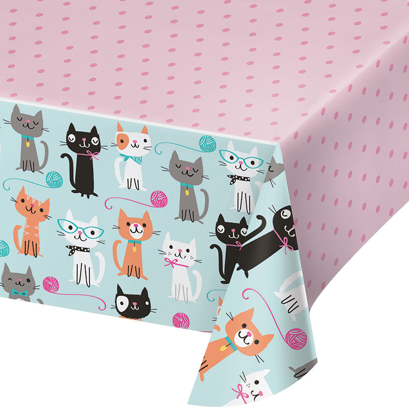 Purrfect Party Tablecover - PURFECT PARTY - Party Supplies - America Likes To Party
