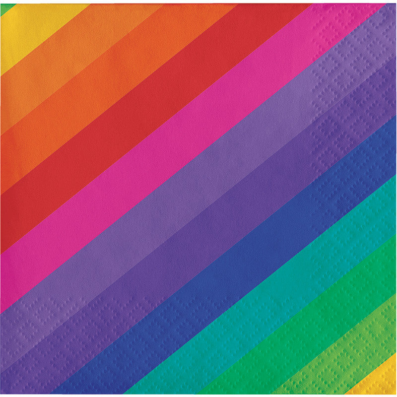 Rainbow Beverage Napkins - GENERAL BIRTHDAY PATTERNS - Party Supplies - America Likes To Party