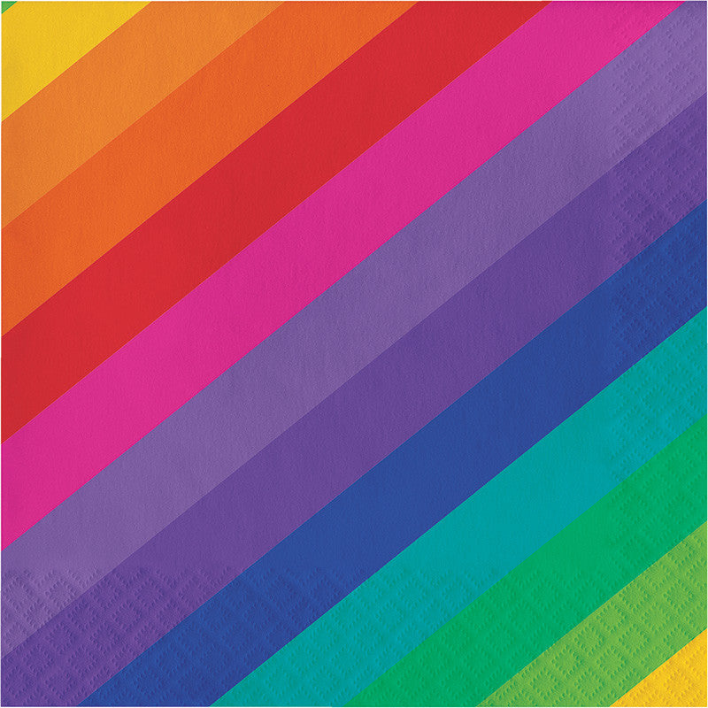 Rainbow Lunch Napkins - GENERAL BIRTHDAY PATTERNS - Party Supplies - America Likes To Party
