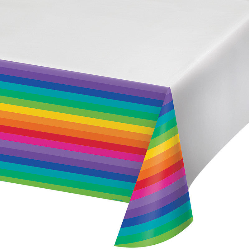 Rainbow Plastic Tablecover - GENERAL BIRTHDAY PATTERNS - Party Supplies - America Likes To Party