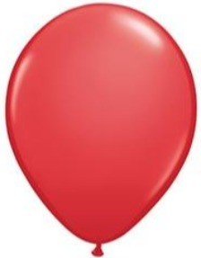 11 inch Red Qualatex Balloon