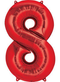 Giant Red Number 8 Balloon - MEGALOON NUMBERS/LETTERS - Party Supplies - America Likes To Party