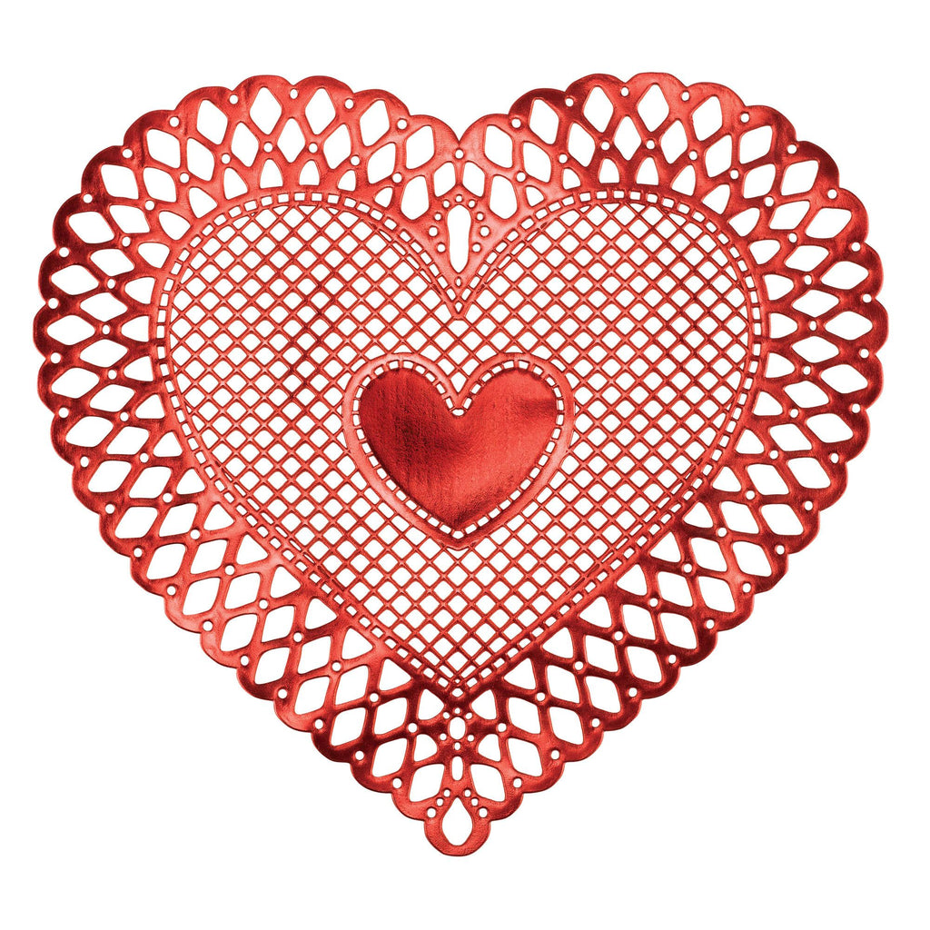 Red Lace Heart Placemat