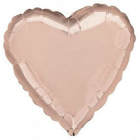 Rose Gold Heart Balloon - SOLIDS MYLAR - Party Supplies - America Likes To Party