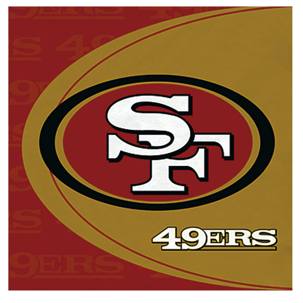 San Francisco 49ers Lunch Napkins 16ct - NFL - Party Supplies - America Likes To Party